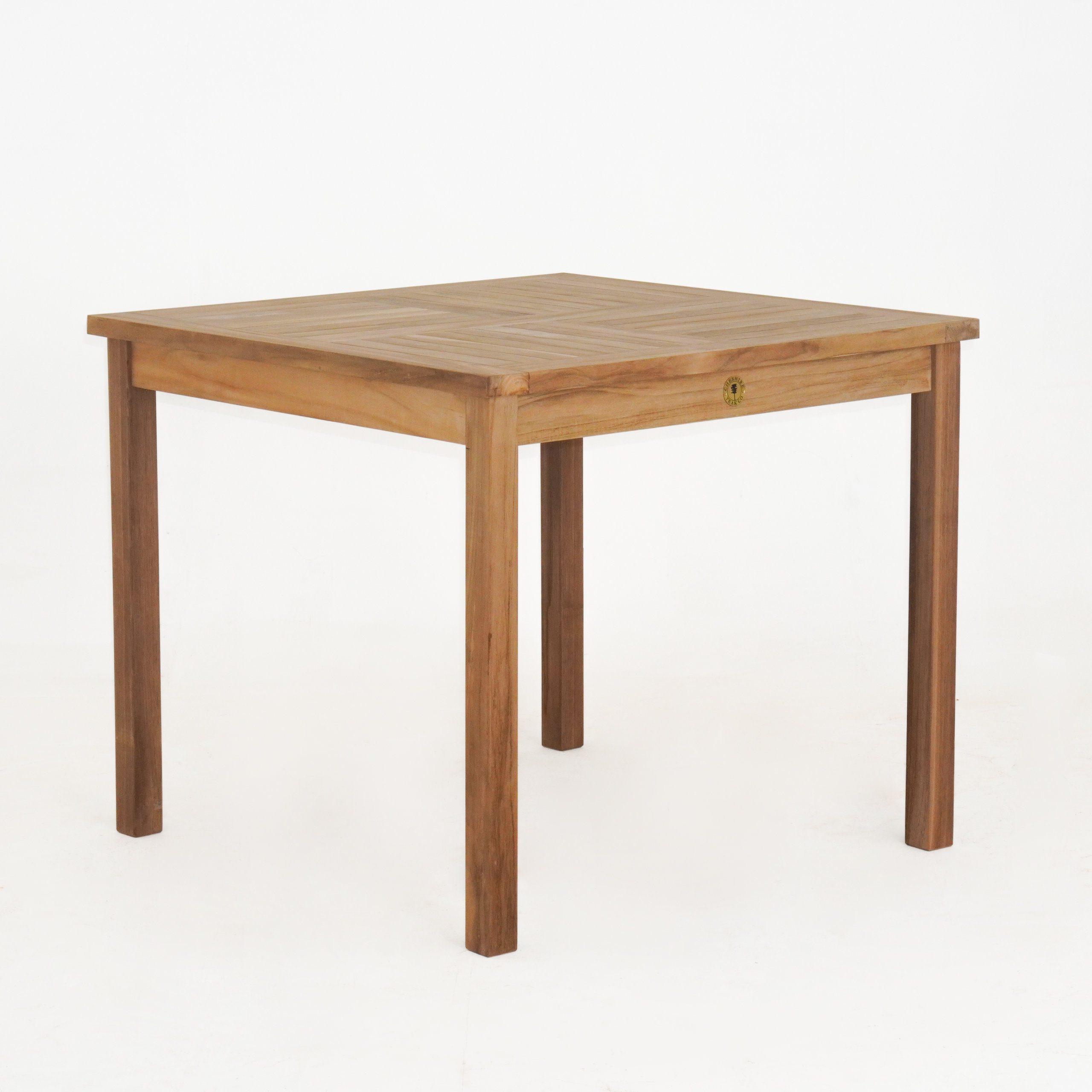 Fixed Square Teak Table